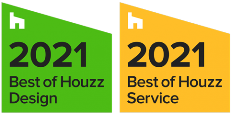 Best of Houzz Design and Service 2021 badges